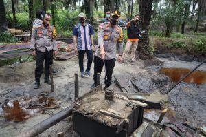 Breaking News!!! Polres Muaro Jambi Gasak Aktifitas Ilegal Drilling di Bahar Selatan