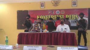 Polres Tanjabtim Gelar Konferensi Pers Terkait Penangkapan 4 Orang Pengguna dan Pengedar Narkoba