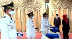 Lantik Dua Kepala Daerah Beserta Wakil, Ini Pesan Pj Gubernur Jambi