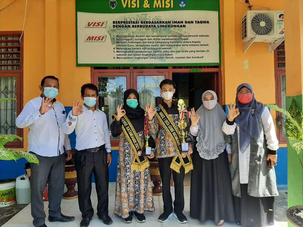 Dua Siswa SMPN 21 Batanghari Terpilih Wakili Duta Genre ke Provinsi Jambi
