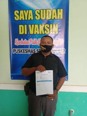 Wartawan Muaro Jambi Jalani Vaksinasi Covid-19 Tahap Pertama