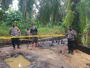 Polres Muarojambi bersama Tim Terpadu Tertibkan Ilegal Drilling di Bukit Subur Bahar Selatan