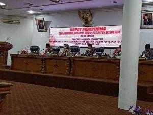DPRD Batanghari Gelar Paripurna Penyampaian Nota Pengantar RAPBD-P TA 2021